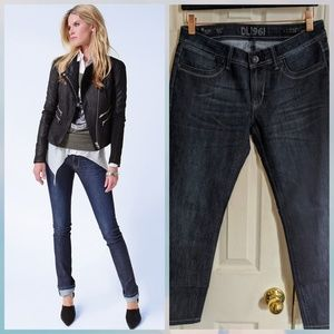 DL1961 Lindsey slim straight mid rise blue jean